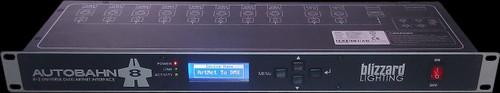 Blizzard Lighting AutoBahn 8  Rack Mount 8 Port DMX to Artnet Processor