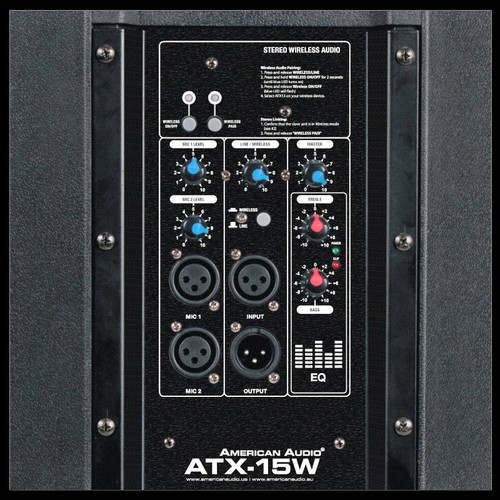"American Audio ATX-15W 15"" 2-way Active PA Speaker w/ Wireless Linking"