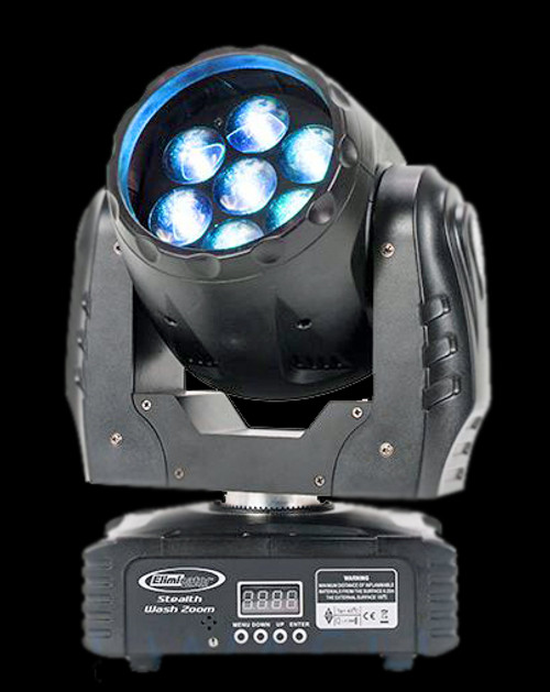 Eliminator Lighting Stealth Wash Zoom RGBW LED Wash Moving Head