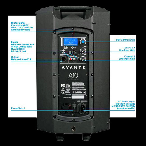 Avante Audio A12  12-inch, 2-way Active Loudspeaker