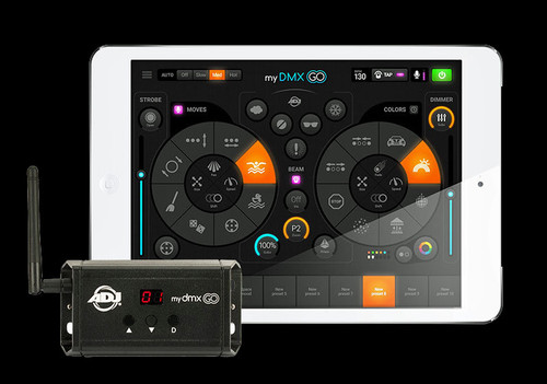 ADJ myDMX Go - iPad / Android Tablet Lighting Control System + App