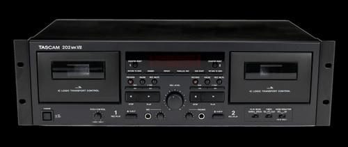 TASCAM 202MKVII Double Cassette Deck w/ USB Port