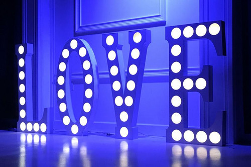 Eliminator Decor Love 2.0 / Letters w/ RGB Circle Cut-Outs
