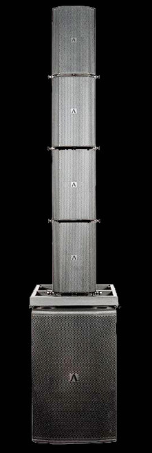 Avante Bleacher Stack Rig / 4 Box Flown Array w/ Ground Subs