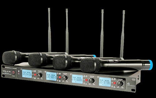 American Audio 4-channel Wireless UHF Handheld Microphone System