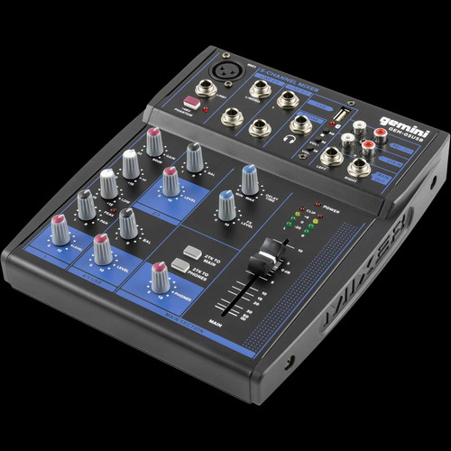 Gemini GEM-05USB 5 Channel USB Mixer w/ Bluetooth