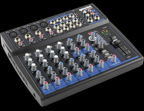 Gemini GEM-12USB 12 Channel USB Mixer w/ Bluetooth