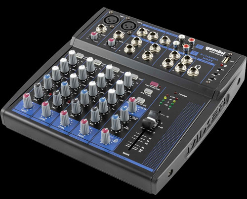 Gemini GEM-08USB 8 Channel USB Mixer w/ Bluetooth