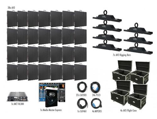 ADJ AV3 7x4 LED Video Panel Wall System
