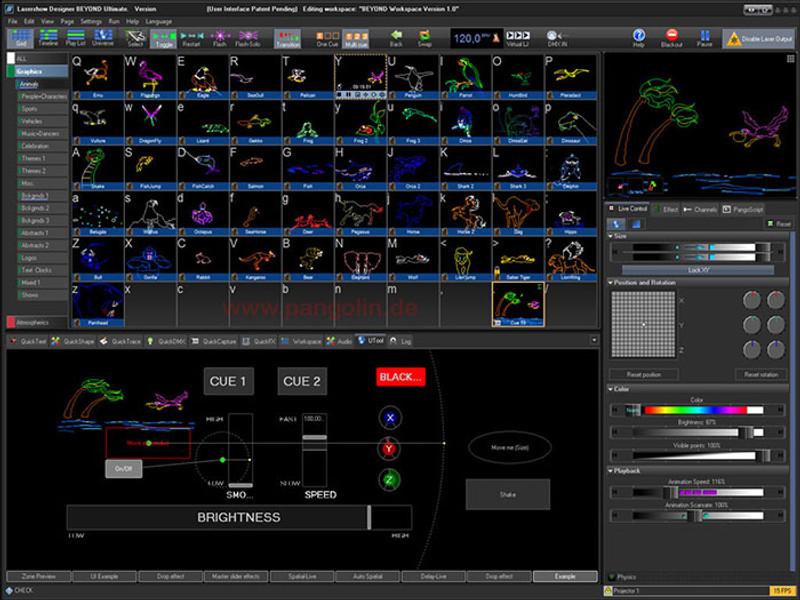 Pangolin QuickShow QSXL / DAC Laser Light Show Computer Software