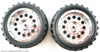 86017 WHEEL COMPLETE HSP 1/16 SCALE SILVER 2Pieces