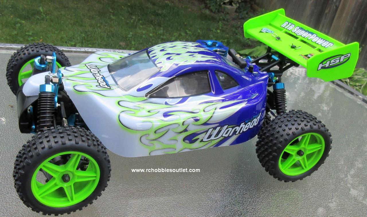 HSP WARHEAD RC Buggy / Car Nitro Gas Engine 2 Speed 1/10 Scale 2.4G  MA4 B