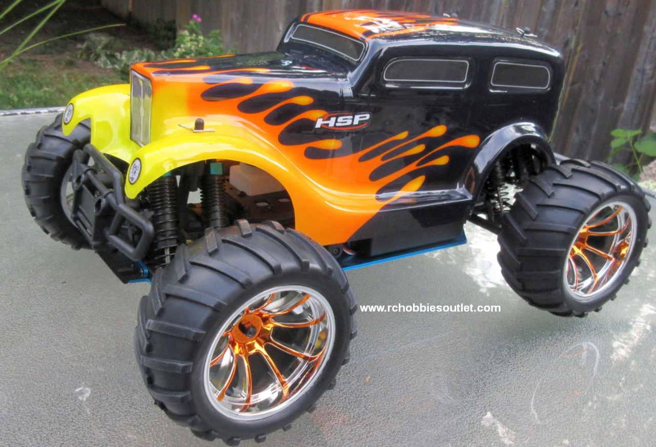 RC Nitro Gas Monster Truck HSP 1/10 Car 4WD  RTR 88046
