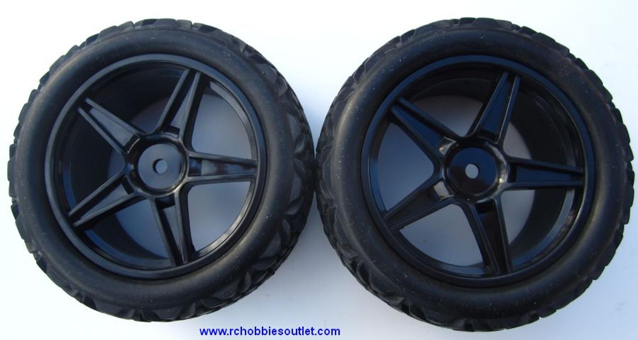 20123 Rear Tire & Wheel  HSP Buggy 06026 Black Rim