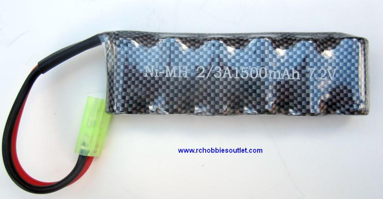 30327  1500 mah 7.2 v NIMH battery for 1/16 Scale