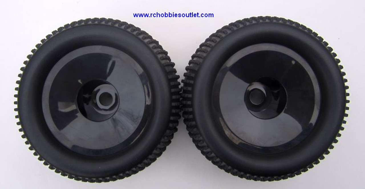 86722  Wheel Tire & Black Rim for HSP 1/8 Scale Truggy ( 2 pieces) HSP, Redcat