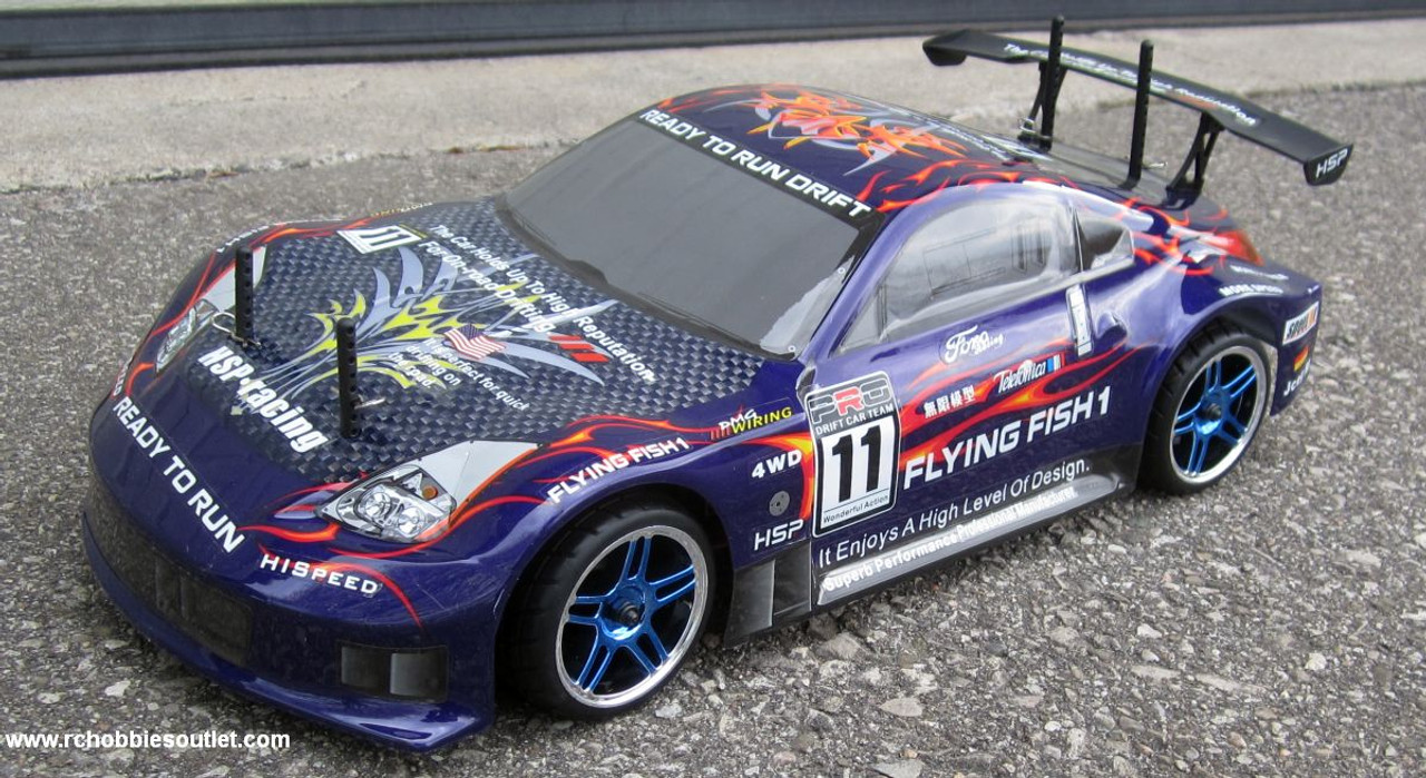 RC Nitro  Car  Radio Remote Control 2.4G 1/10 RTR 4WD 12309 Blue