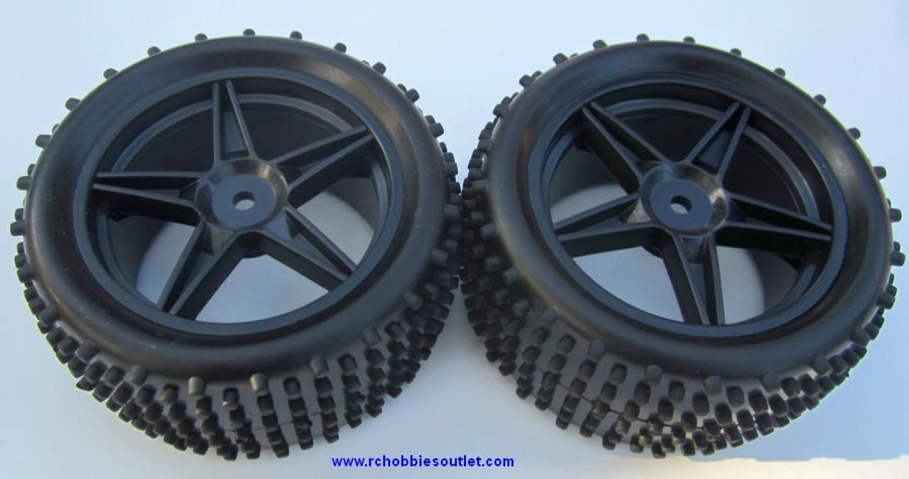 black rear wheel