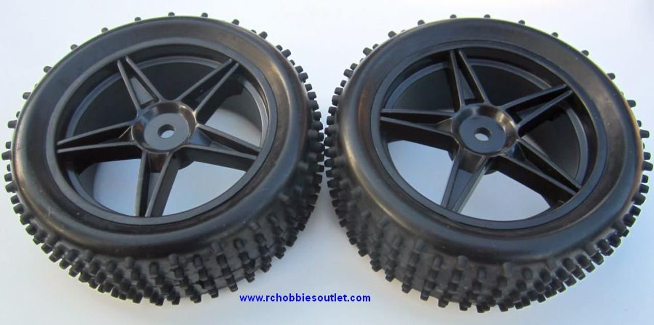 06010 1/10 Scale Tire & Rim Black HSP Redcat