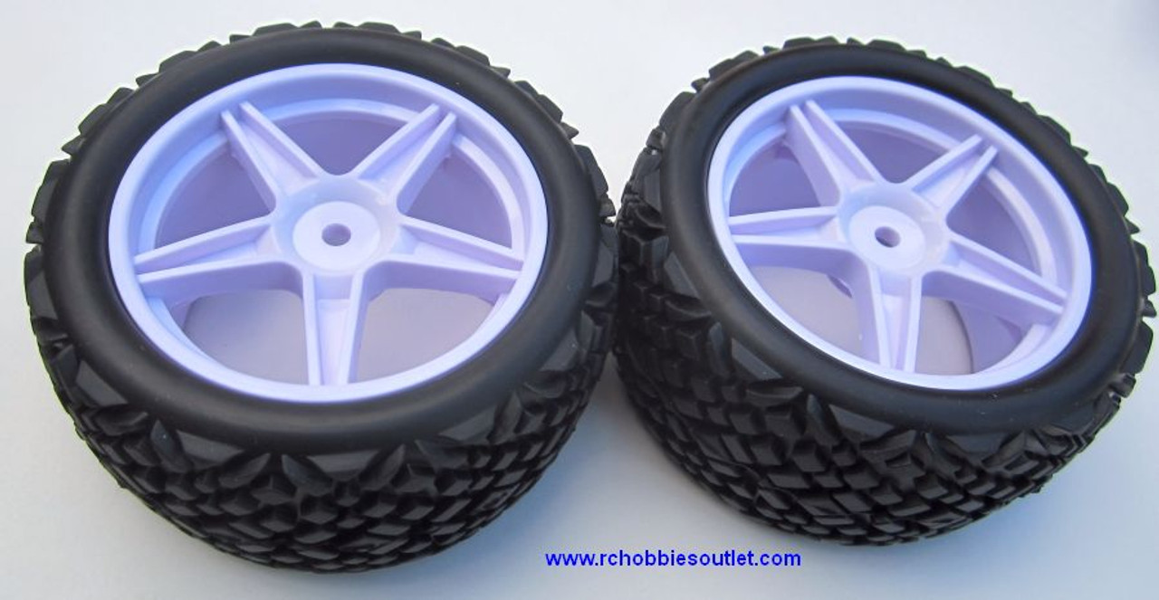 20123 White Rear Tire & Wheel HSP Sand Rail Buggy 06026