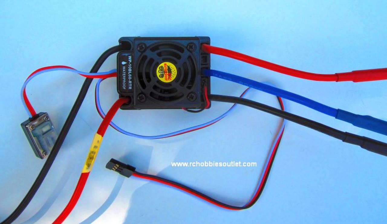 37017 Brushless ESC 60Amp Waterproof Electronic Speed Control
