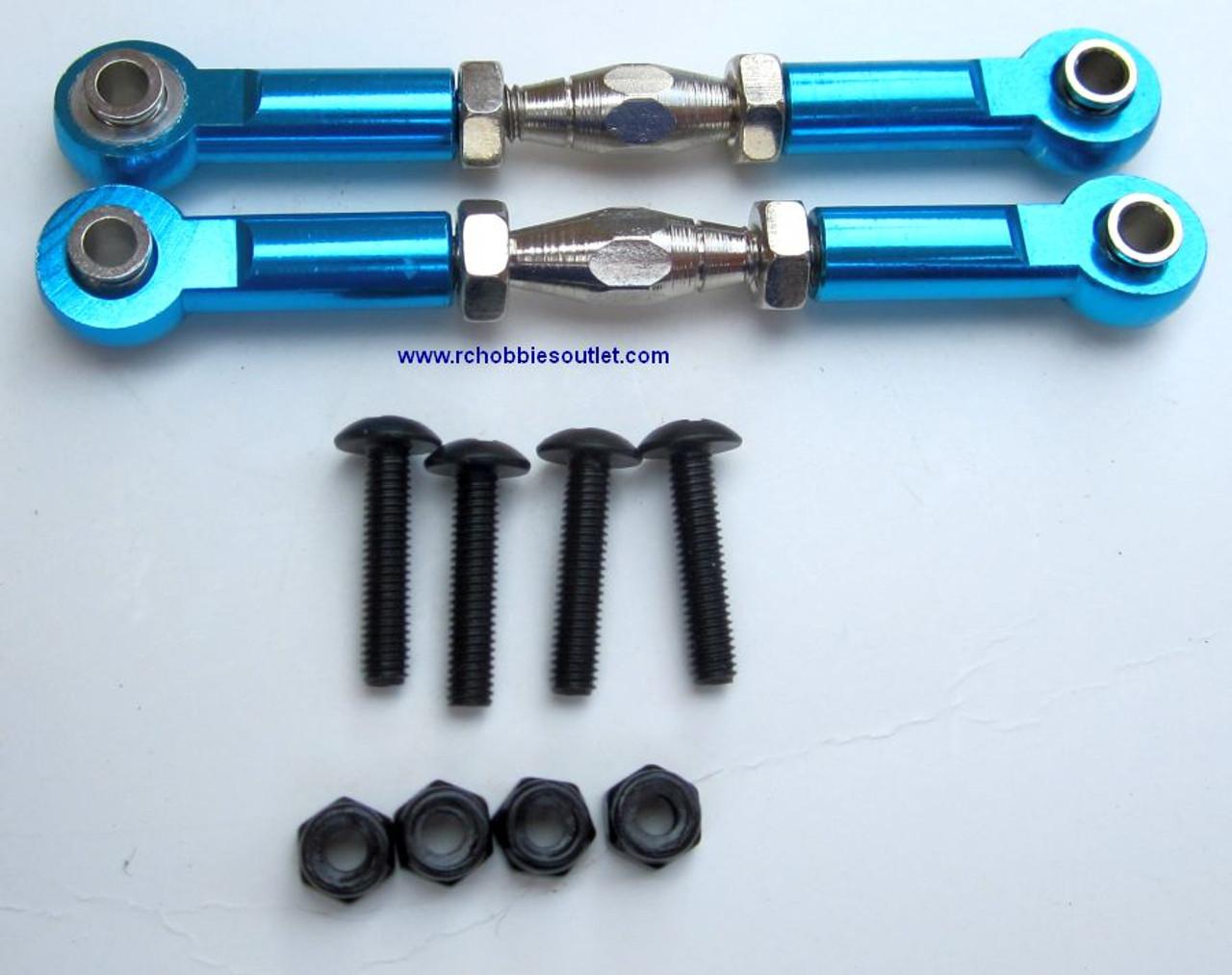 06048 or 106017 or 106617 Blue Aluminum  Steering Link HSP Redcat ETC