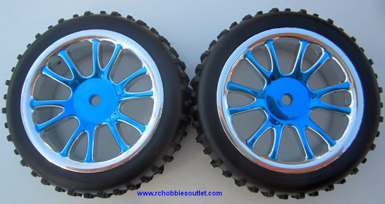 85007N Front Wheels Complete Blue