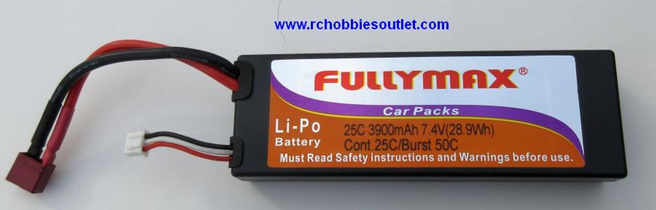LIPO 7.4V 3900mAh 25C Hard Shell FULLYMAX