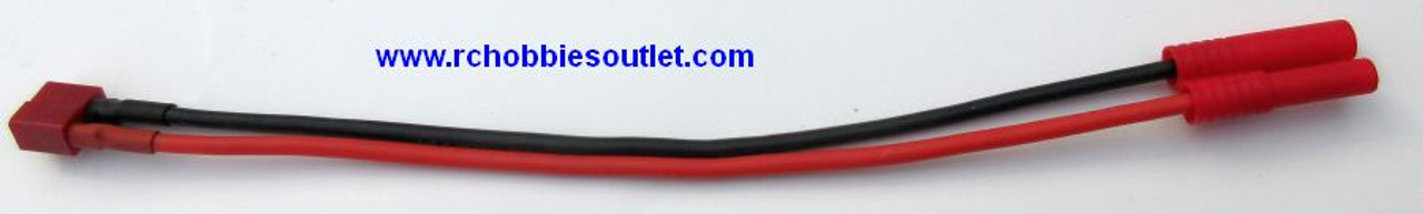T Connector to Banana Plug  Battery Adapter Cable