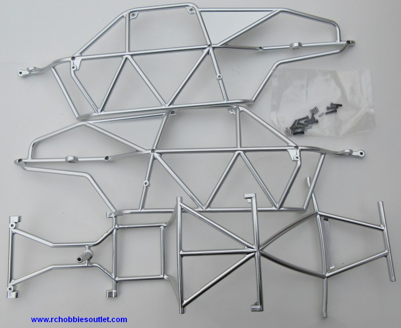 20118 Chrome Plated Spoke Roll Cage for HSP Redcat