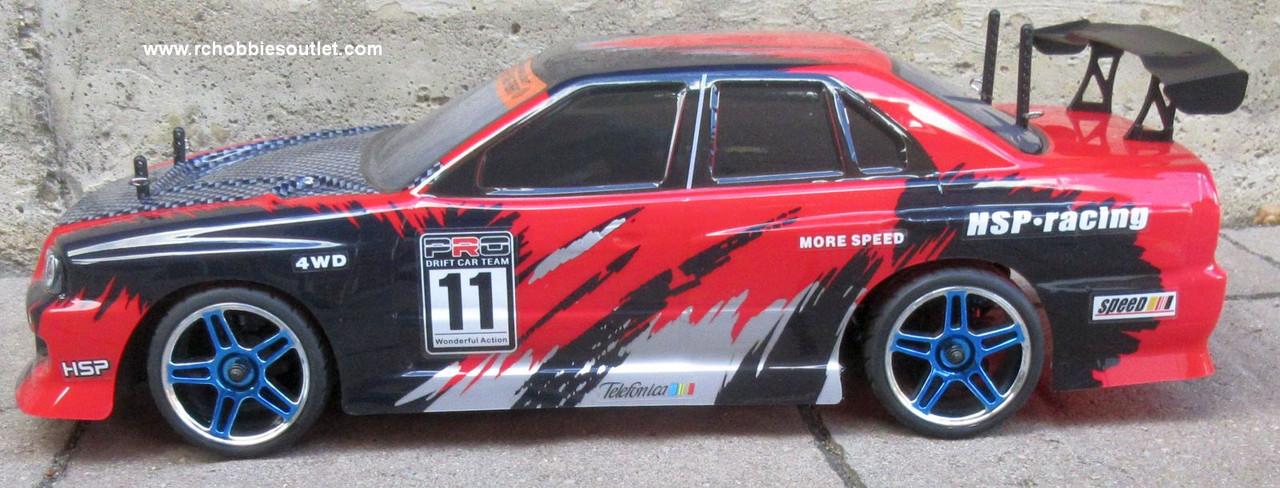 RC Nitro Race Car  Radio Remote Control 1/10 Scale 2.4G RTR 4WD 12334
