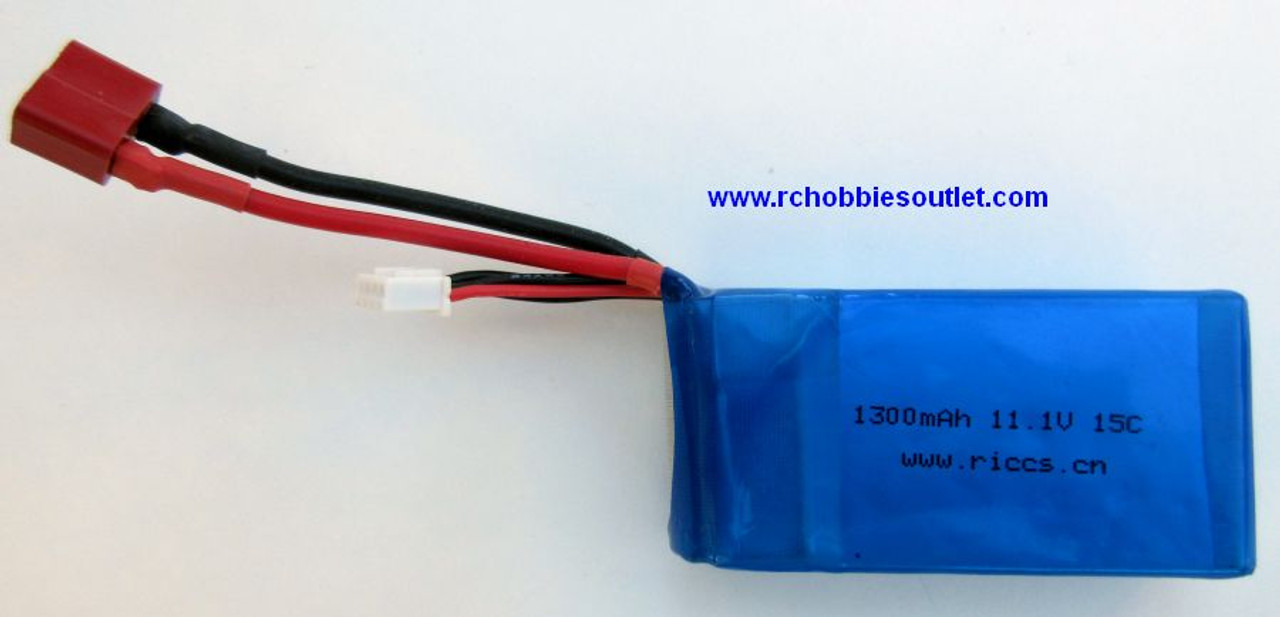 11.1v 1300 mah 15 C LIPO Battery for Drones or Airplanes