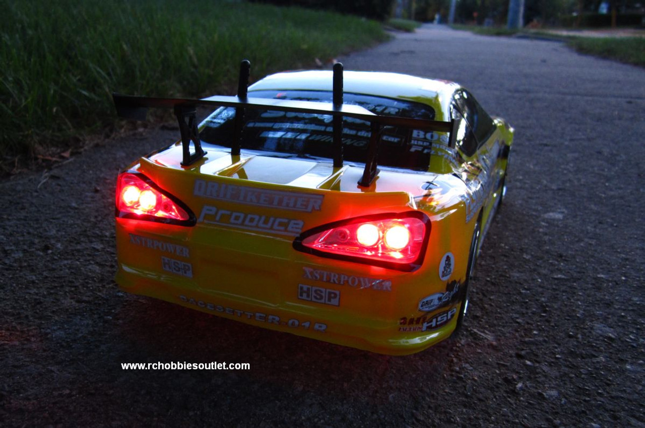 RC Electric Drift Car with 8 Lights 2.4G Radio Remote Control 1/10 Scale G45
