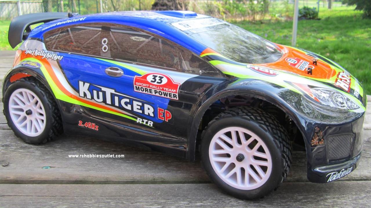 RC Sport Rally Car Electric 1/10 Scale Radio Control 2.4G 4WD RTR 17793