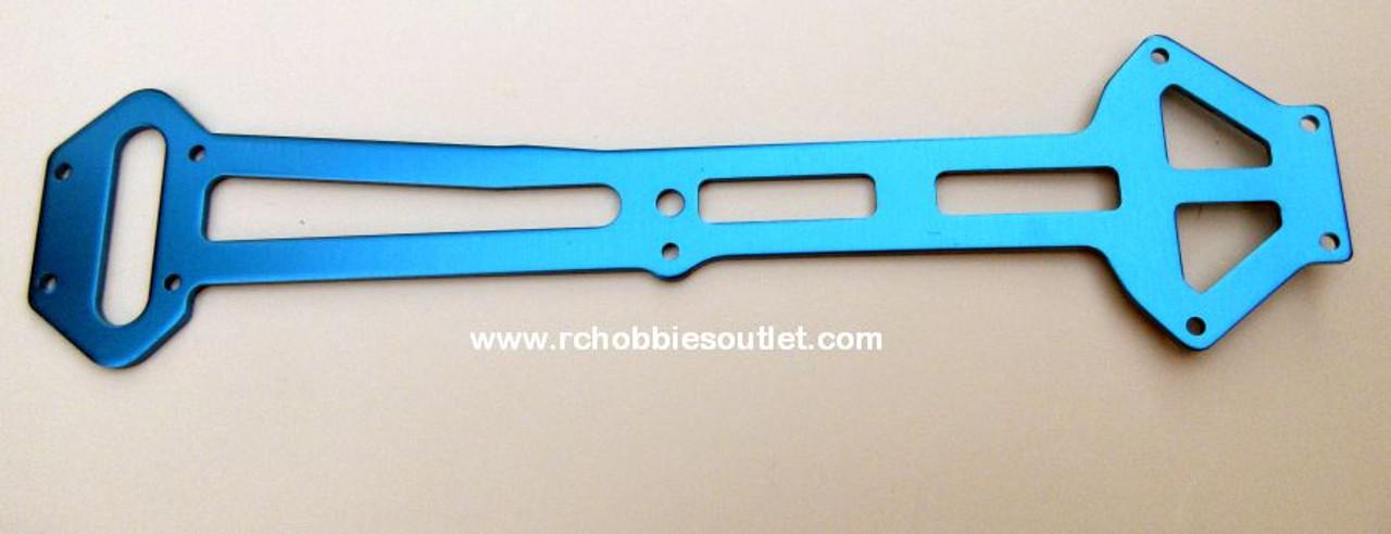 03990  Radio Tray Blue Aluminum Upper Top Plate  HSP. Redcat ( 04002)
