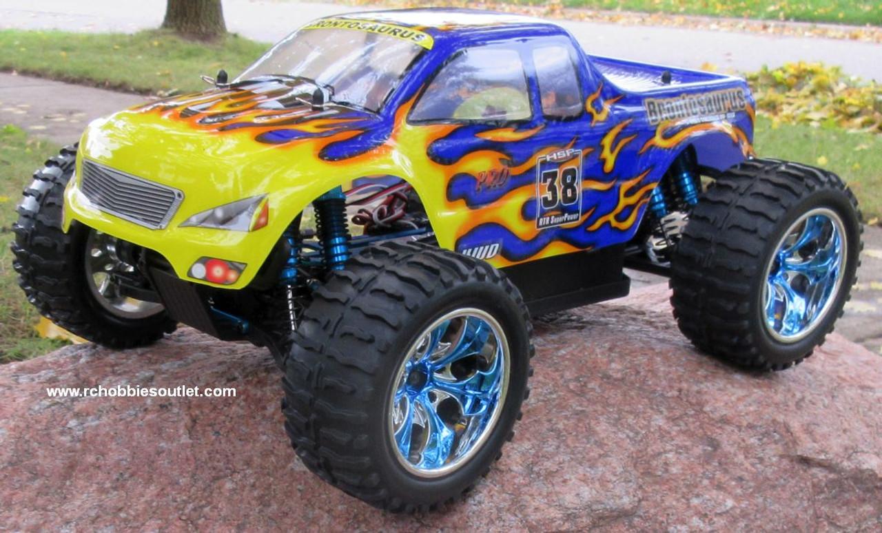 RC Monster Truck Brushless Electric 1/10 PRO LIPO 2.4G 88004 Blue