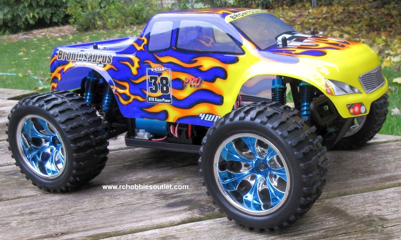 RC Monster Truck Brushless Electric 1/10 PRO LIPO 2.4G 88004 Blue