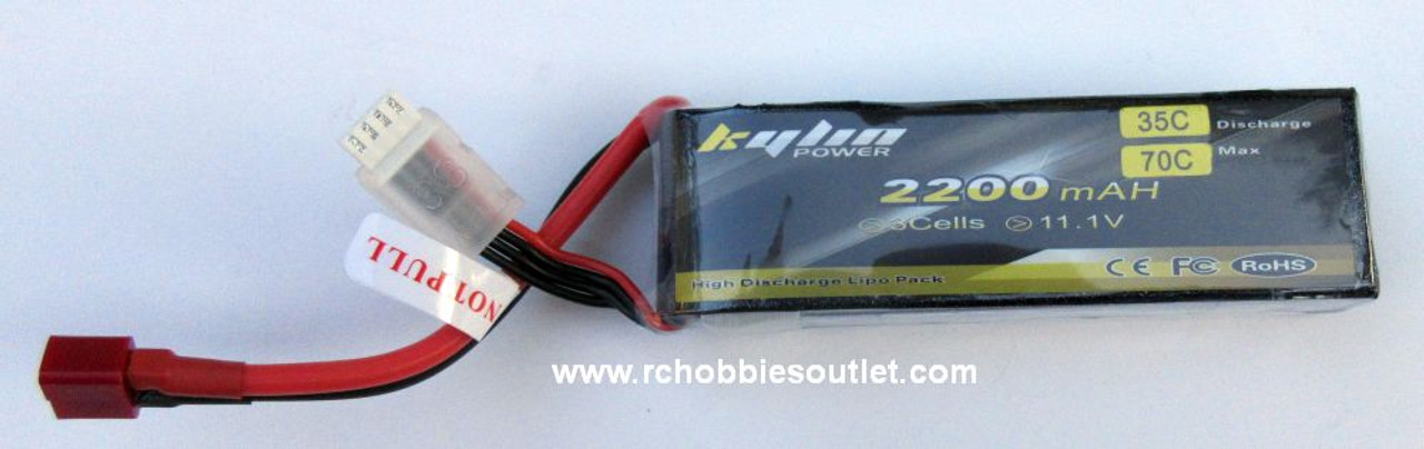 Kaylin LIPO Lithium RC Battery 11.1V 35C 3 CELL 2200MAH T Connector