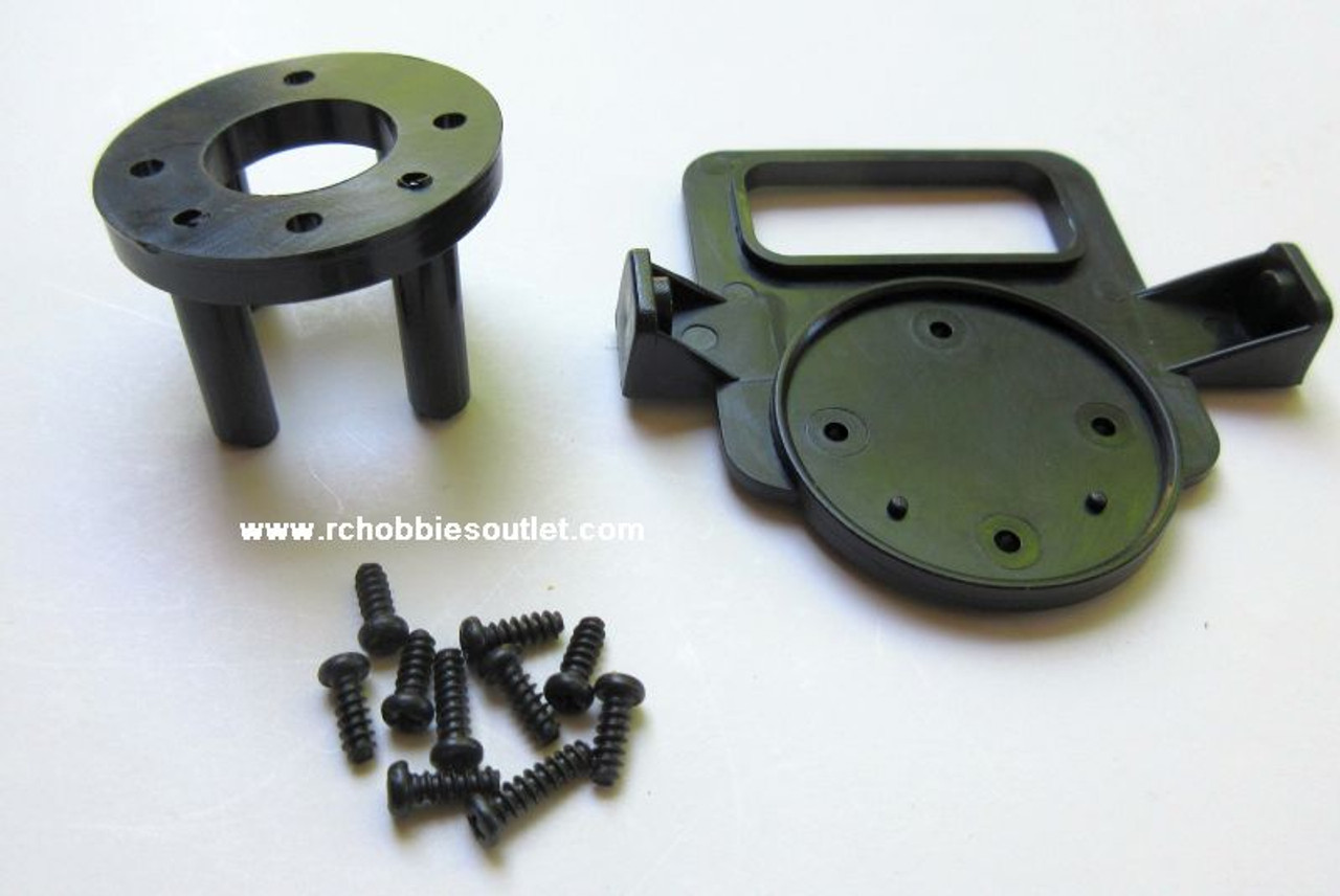 620316  Plastic Motor Mount With Screws For Super Cub V2 and J3 Cub Joysway RC Airplane