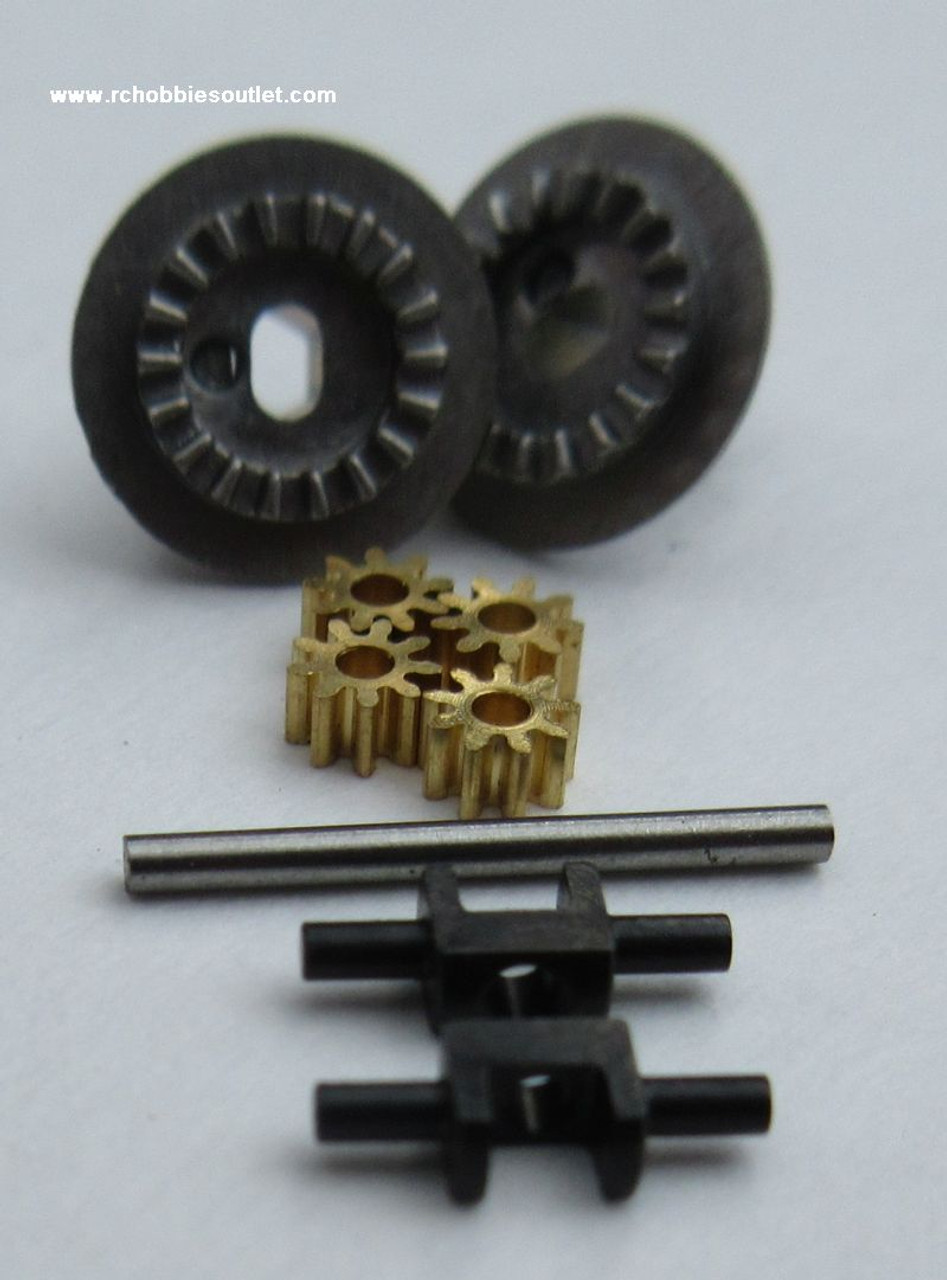 24622 Diff. Joint Cup Gear + Diff. Gear (9T) + Diff. Gear Shaft For  HSP and ECX  1/24 Scale Vehicles