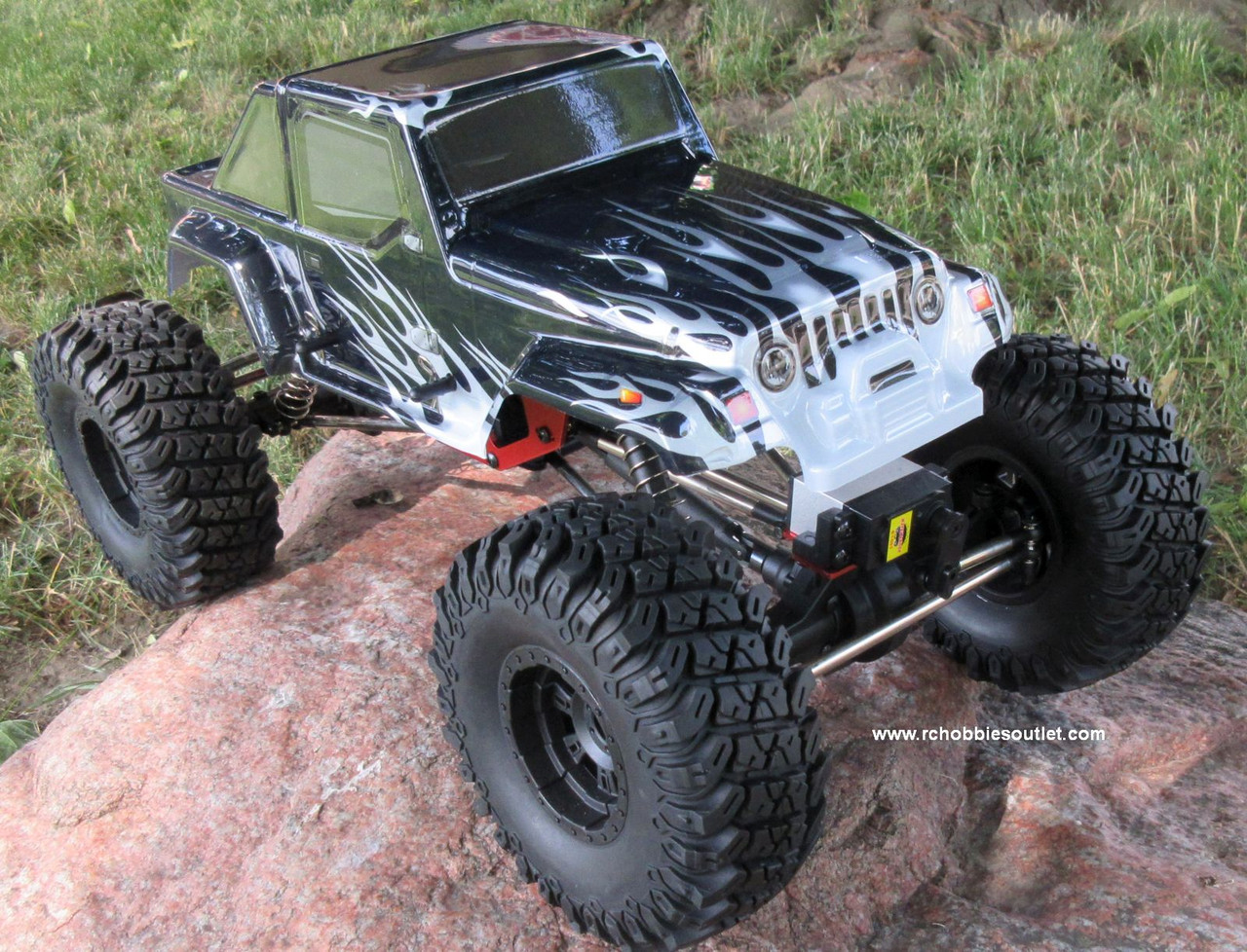 RC Rock Crawler Truck with 4 Wheel Steering 1/10 Scale 2.4G  4WD 12111