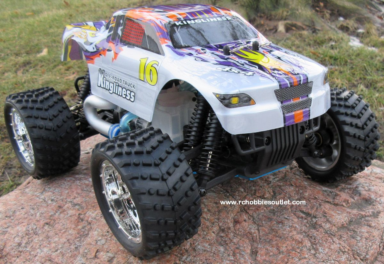 RC Nitro Gas Monster Truck 1/16 Scale 2.4G 4WD RTR YX28604P