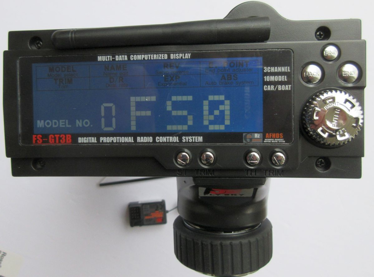 FS-GT3B  3 Channel Transmitter  and 2.4G 3 Channel receiver