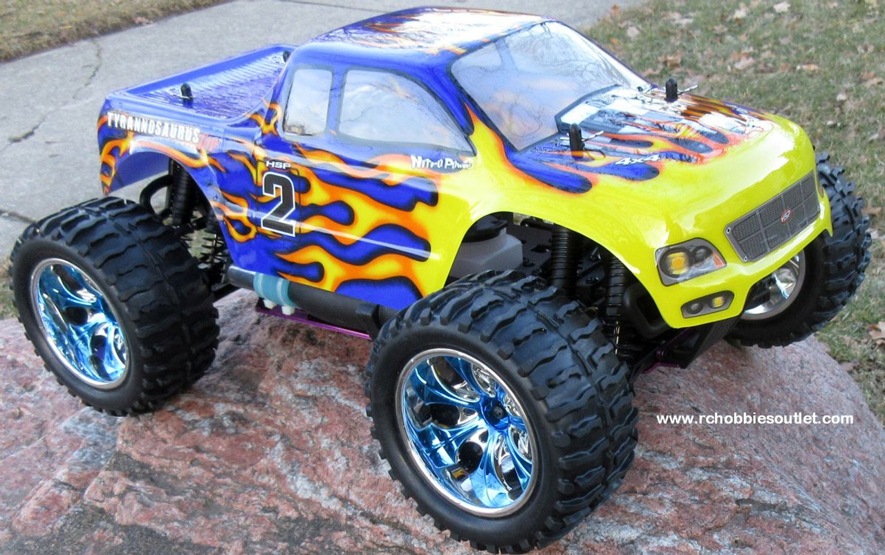 RC Nitro Gas Monster Truck HSP 1/10 Scale 4WD 2.4G RTR 88004 B