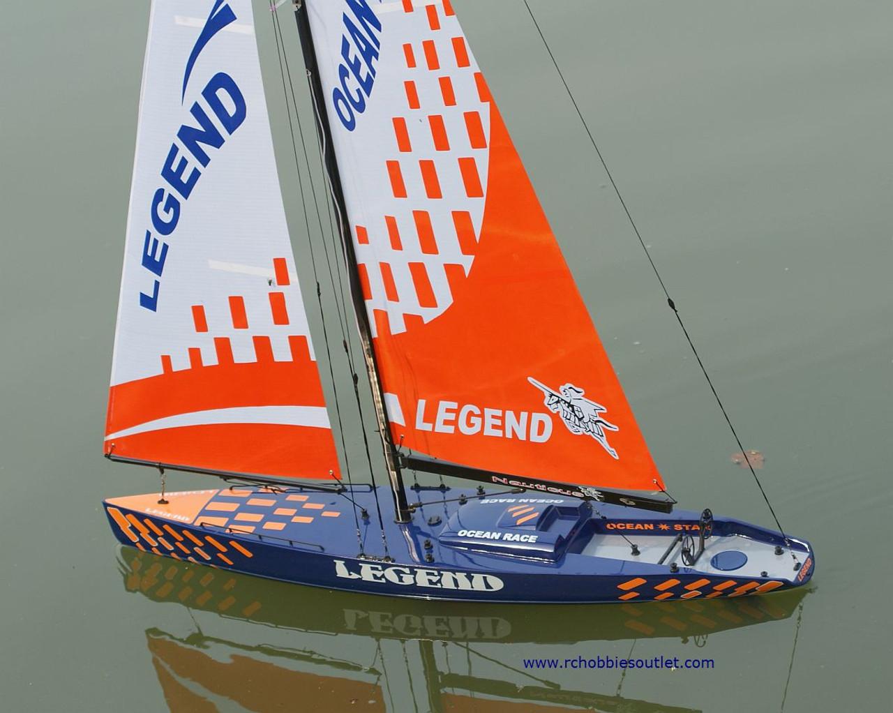 RC Sail Boat Racing Yacht  Legend Sailboat 2.4G Radio Remote Control RTR