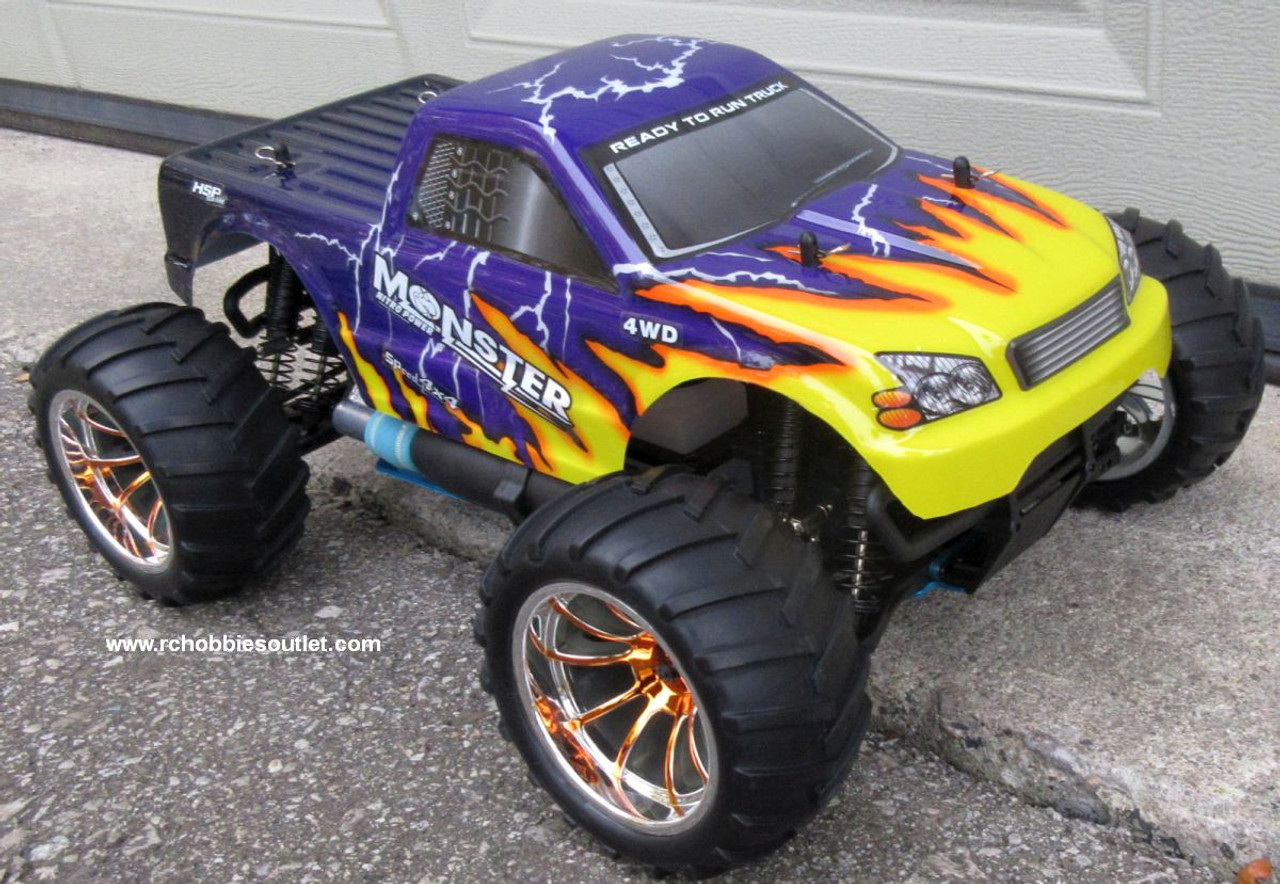RC Nitro Gas Monster Truck HSP 1/10 Scale 4WD  RTR 2.4G   88025