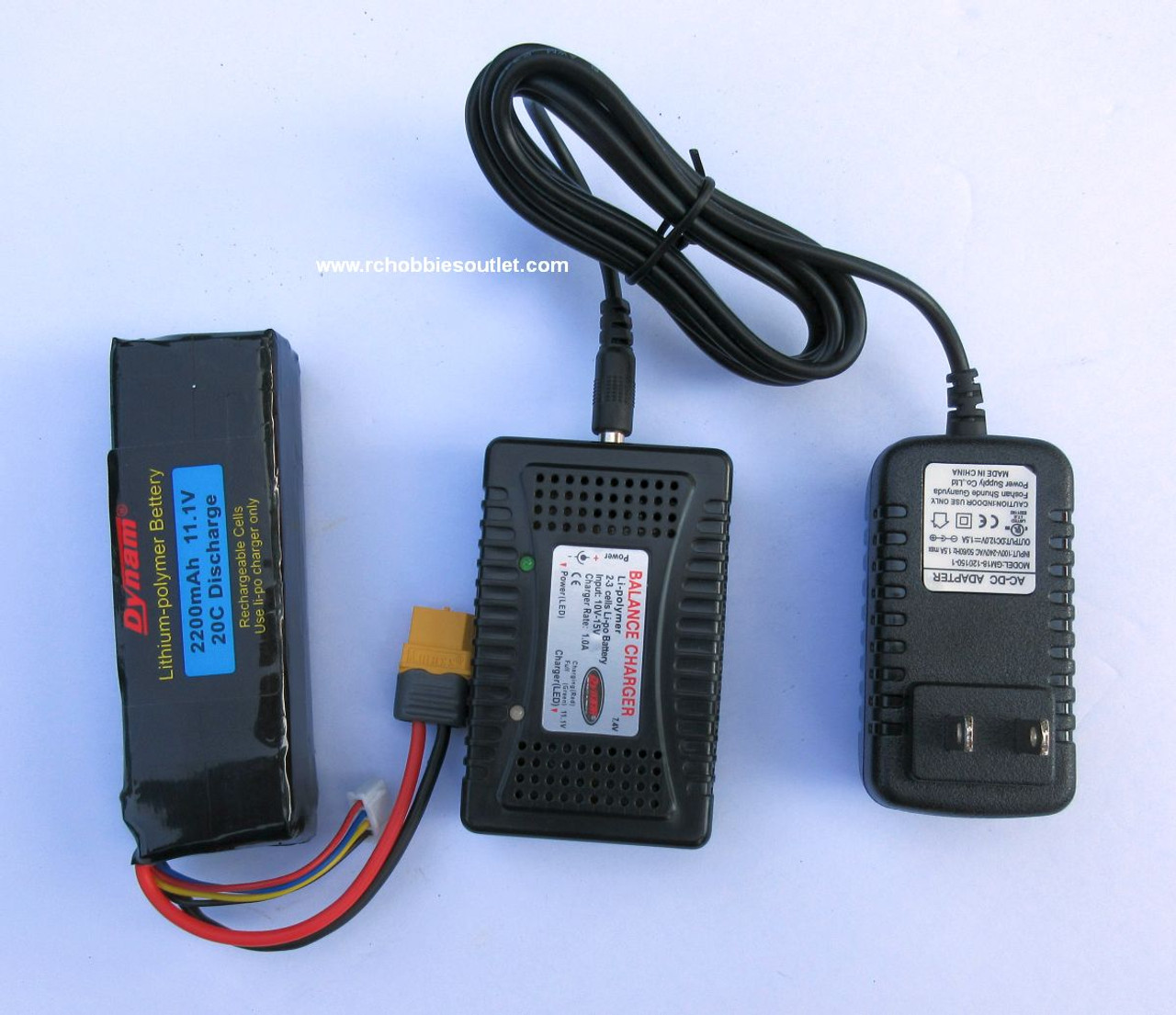 11.1v LIPO Battery and 1 Amp balanced charger