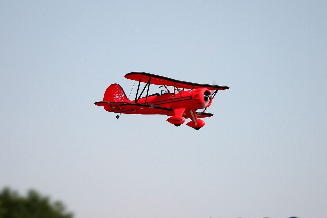 "RC Airplane  DYNAM WACO YMF-5D RED 1270mm (50"") Stabilized Ready To Fly (SRTF)"