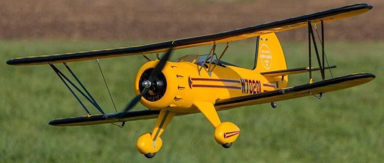 "RC Airplane  DYNAM WACO YMF-5D Yellow  1270mm (50"") Stabilized Ready To Fly (SRTF)"
