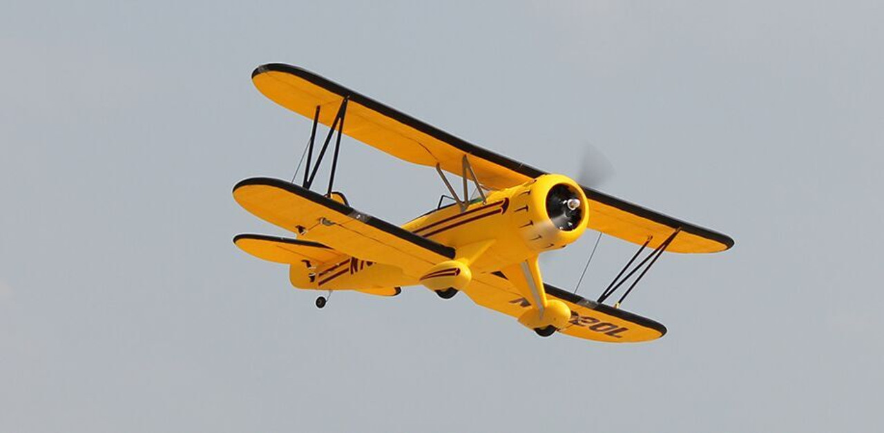 "RC Airplane  DYNAM WACO YMF-5D Yellow  1270mm (50"") Stabilized Ready To Fly (SRTF)"